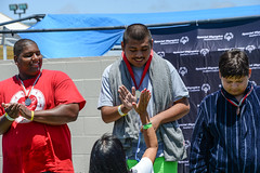 20170611-Swimming-JDS_3115 (Special Olympics Southern California) Tags: longbeach medals smiles summergames sunday swimming athlete celebration highfive