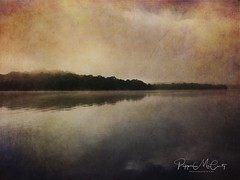 Glamping at Hickory Creek. Foggy sunrise this morning. Textured with #stackables #stackablesapp (peppermcc) Tags: stackables stackablesapp