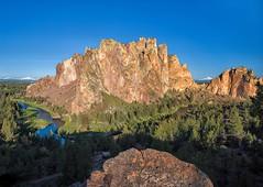 Smith Rock Sunrise (Philip Kuntz) Tags: smithrock smithrockstatepark crookedriver sunrise sunup dawn daybreak reflections cascadepeaks southsister mtjefferson geology rockclimbing terrebonne oregon hikes