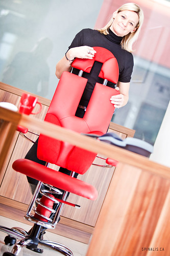 Award winning office chair design of the SpinaliS chairs for active sitting in Canada