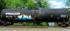 PROX 78765 (timetomakethepasta) Tags: ich ichabod yme 63 freight train graffiti art tanker procor benching selkirk new york photography prox