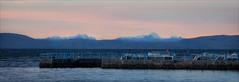 Bolivia (kate willmer) Tags: mountain sunset light snow altiplano island harbour sky bolivia peru lake titicaca