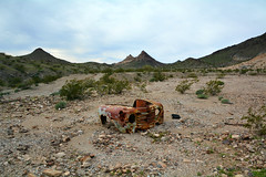 Vehicle Ruins - Palen Pass Road (simbajak) Tags: old rusty frontend 1950 1949 1948 truck pickuptruck ford desert california palen pass road blm bureauoflandmanagement
