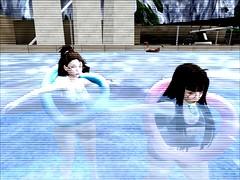 Poool~! (Hexanna) Tags: firestorm secondlife swimsuit water floaties pool swimming secondlife:region=animeisle secondlife:parcel=animeaddictclubhatsuneotakuhangoutshoppingandrp secondlife:x=214 secondlife:y=52 secondlife:z=1505