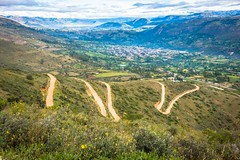 A look down at Cajamarca after we tackle the first of many switchbacks.
