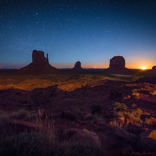 Monument Valley at Moonrise