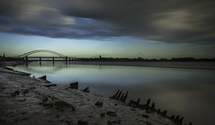 A moment of tranquillity in a world of madness (Explored) (markrd5) Tags: mersey runcorn bridge sunrise calm mood atmosphere mozart clarinet concerto nikon1024mm leefilters longexposure