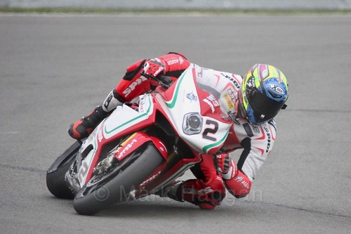 Leon Camier in World Superbikes at Donington Park, May 2017