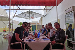 lunching (domit) Tags: lunch tomares casa eugenio spain bastien martin brothers cruzcampo oma opa jay cristina emma domit isaac