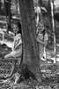 117 (boeddhaken) Tags: blackwhite girl cutegirl beautifulgirl forest tree trick trickphotography