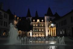 Hôtel de ville (corinne emery) Tags: sierrenuit siders ville city rue street nuit night exterieur suisse wallis valais fabuleuse flickrunitedaward