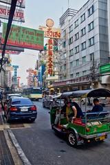 Street scene on Yaowarat road in Chinatown, Bangkok, Thailand (UweBKK (α 77 on )) Tags: street scene yaowarat road chinatown tuktuk bangkok thailand southeast asia sony alpha 77 slt dslr city urban