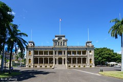 Iolani Palace, Honolulu Hawaii, USA (ak_phuong (Tran Minh Phuong)) Tags: akphuong tran minh phuong art great angle iolani palace hawaii best most blue sky outdoor architecture historical only one fullview super king royal kamehame iii