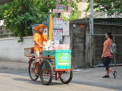 Space Invader BGK_21 (tofz4u) Tags: bangkok krungthep thailand thailande bgk21 paris streetart artderue invader spaceinvader spaceinvaders mosaïque mosaic tile red yellow jaune rouge vélo velo bike bicycle bicyclette tricycle marchandambulant street rue people