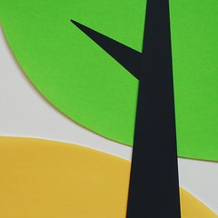 green spring (Sara Cunha) Tags: wip paper papercut origamipaper mujiorigamipaper colours silhouette tree