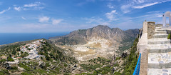 Stefano Crater in Nisyros Island, Greece (Nejdet Duzen) Tags: active adventure aegean architecture attraction beautiful blue christianity church colorful crater destinations dodecanese elias europe geological geology greece greek island kos landmark landscape mediterranean mountain nature nikeia nikia nisiros nissyros nisyros outdoors panorama panoramic prophet sea stefanos sulfur sulfurous tourism tourist touristic tradition traditional travel trip view volcanic volcano white