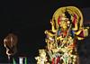 Durga Puja Immersion Carnival (Debarshi Ray) Tags: india kolkata calcutta durgapuja autumn canon canoneos70d tamron tamronaf18270mmf3563 hinduism idol carnival procession immersion truck lorry redroad tableux trailer float street road black yellow