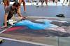 A world of legs (jeremyhughes) Tags: rome viadelcorso pavement artist art sidewalk pavementartist chalk legs pointofview angleofview blue artiste public city urban street nikon d750 nikkor 35mm afnikkor35mmf2d roma citta tattoo