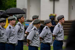 Through the rain (totjason) Tags: atease atrest cadet beret raining memorial memorialday