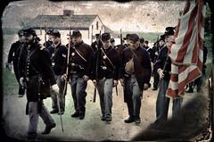 Marching Home Again (drei88) Tags: timeregression agedphoto civilwar 1865 encampment history livinghistory distress