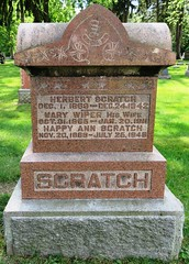 Scratch, Herbert  1869 - 1942 (Hear and Their) Tags: grave marker stone gravestone tomb tombstone greenhill cemetery kingsville fraternal masonic oddfellow