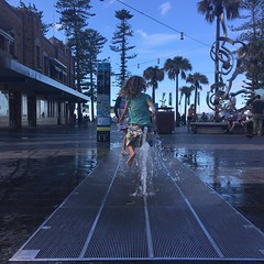 Fountain frolicks in the Corso, Manly.
