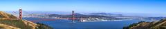 Iconic Panoramic View of the Golden Gate Bridge and San Francisco (allentimothy1947) Tags: calfiornia goldengatenationalrecreationarea heallands marincounty golden gate brideg sanfrancisco panoramic san francisco bay pacificocean city landscape