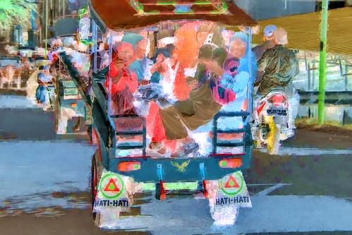 Indonesia - Lombok - Cidomo (Horse-Cart-Taxi) - 2bb