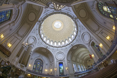 US Naval Academy Chapel (jtgfoto) Tags: approved rotunda ceiling architecture building fisheye perspective dome indoor church sanctuary usna navalacademy annapolis maryland annearundelcounty sonyimages sonyalpha chapel