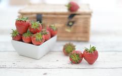 Strawberry Picnic.. (KissThePixel) Tags: stilllife stilllifephotography strawberries strawberry homegrown mygarden garden gardener picnic nikon nikondf sigma sigmaart 14 f14 aperture white red fruit summer summerdays love cottage cottagegarden 50mm macro bokeh