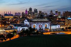 KC (KC Mike Day) Tags: cityscape buildings nighttime light union station e dusk evening kansascity missouri