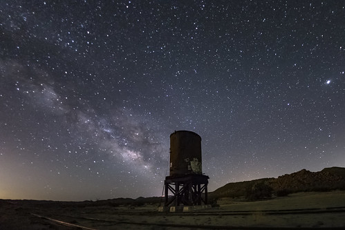 Milky Way and Old Railroad Water Tower