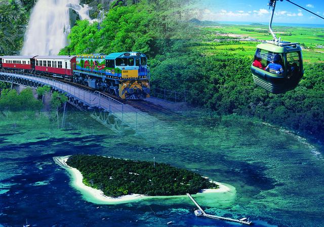 2大世界遺産 熱帯雨林とグリーン島(昼食付) キュランダ列車利用