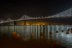 Super road trip (RickyBats) Tags: bridge california cloudy fog lights night oaklandbaybridge sanfrancisco sanfranciscobay scenic sky water unitedstates us