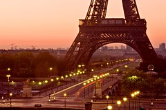 Pont d'Iena and Eiffel Tower (Barry O Carroll Photography) Tags: pontdiena eiffeltower toureiffel river seine bridge dawn morning paris france urbanlandscape cityscape cityoflight villelumiere travel longexposure slowshutterspeed traffictrails lighttrails