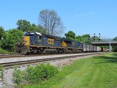 CSX 8027 and 3393 (Trains & Trails) Tags: emd yn3 darkfuture sd403 standardcab csx csxt engine diesel q31710 8027 connellsville pennsylvania fayettecounty