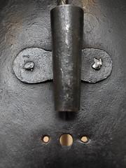 Macro Mondays: Pareidolia - Medieval Horse Armor - Detail (thatSandygirl) Tags: macromondays pareidolia face metal medieval armor detail grey iron metalwork