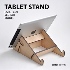 Tablet stand (cartonus) Tags: tablet stand ipad project plan laser cut lasercut engrave free vector model plywood mdf diy