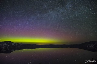 Northern Lights Over Crater Lake