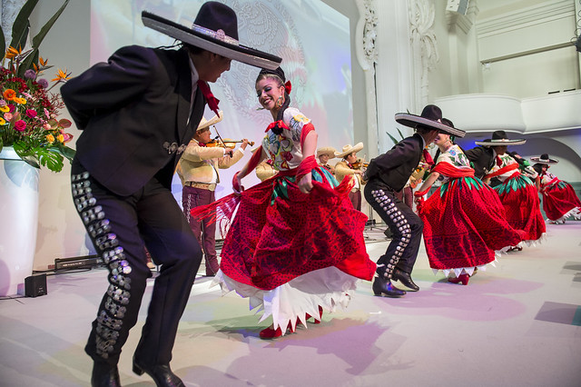 Dancers performing traditional Mexican dance