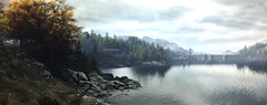 """""""Resting place"""" (L1netty) Tags: riverside autumn nature trees thevanishingofethancarterredux screenshot games panorama scenery landscape gaming reshade pc theastronauts outdoor clouds color pano 4k videogame"""