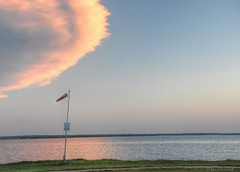Windsock Evening (zendt66) Tags: zendt66 zendt nikon d7200 lakehefner lake hefner sky windsock clouds hdr photomatix