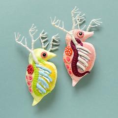 Giant Daphnia(巨大ミジンコ) (hine) Tags: daphnia microbe plankton feltsculpture softsculpture fibreart handmade hinemizushima art craft toy