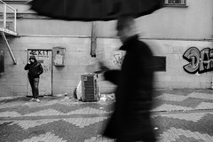 Umbrella Efect (㋡ Aziz) Tags: street umbrella rain drop man blur motion effect streetphotography city geometry art old new mono monochrome fujifilm xt2 1655 f28 light dark noir shadow grey weather world turkey istanbul water blackandwhite humain people ville rue urbain photographe photo noiretblanc netb nb bw shadowplay