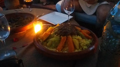 Birthday Veg CousCous (ellyoracle77) Tags: africa morocco marrakech birthday celebrations rooftop birthdaytea meal moroccan cuisine rose petals tagine vegatables couscous slowcooked aromatic spices smells