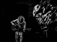 Guitar solo (Marián Company (The Fresh Feeling Project*)) Tags: valencia músico callejero guitarra guitarrista sinrostro sombrero soledad solo solodeguitarra guitar music musician poesia poetical anónimo blancoynegro blackandwhite noiretblanc street streetphoto streetphotography streetphotographer