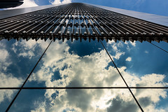 Highway to heaven (Carlos A. Castro 72) Tags: abstract abstracto cielo sky nubes clouds reflejo reflect build edificio architecture arquitectura azul blue ciudad city rascacielos skyscraper d750 nikon 18200mm vr