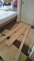 Got wood (Michael JasonSmith) Tags: floor carpet plywood softwood room indoor