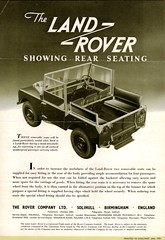 1951 Land-Rover Rear Seating (aldenjewell) Tags: 1951 land rover rear seating brochure