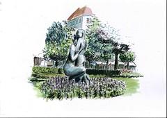 10- Bergen (Alberto Gonzalez Alvarez) Tags: dibujo escandinavia sketchers watercolors ciudad arquitectura acuarela